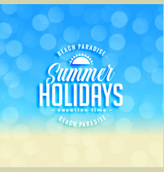 Lovely summer holidays background with bokeh vector