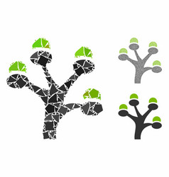 money tree composition icon irregular items vector image