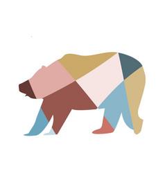 Mosaic bear vector