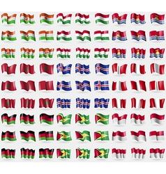 Niger Hungary Kiribati Morocco Iceland Peru Malawi vector