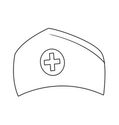 Nurse cap medical ha vector