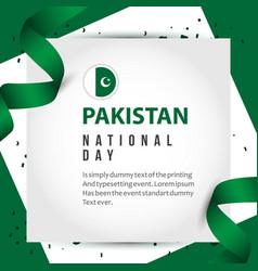 Pakistan national day template design vector