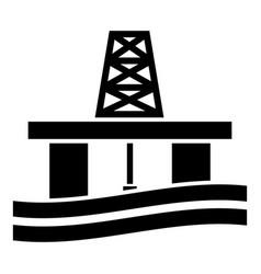 petroleum platform icon black color flat style vector image
