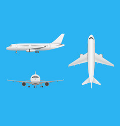 Plane airplane in all point of view vector