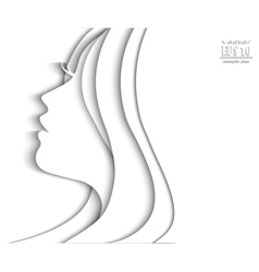 Profile face of beautiful young woman vector