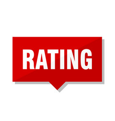 rating red tag vector image