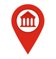Red map pin icon isolated vector