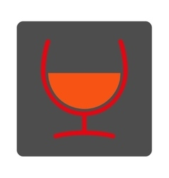 Remedy Glass Rounded Square Button vector image
