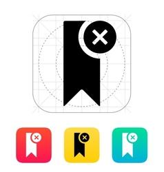 Remove bookmark icon vector