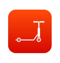 Scooter icon digital red vector