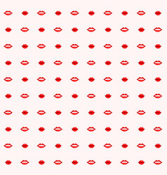 Seamless background with red kiss and lips vector