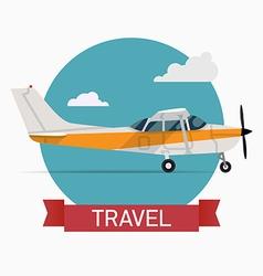 Seaplane Travel Icon vector image