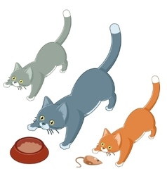 set playing cats vector image