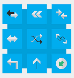 Set simple indicator icons vector