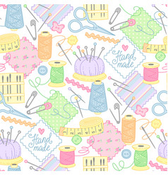sewing pattern vector image