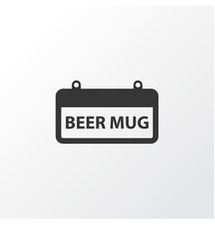 Signboard icon symbol premium quality isolated vector