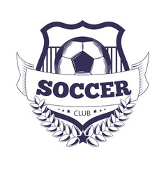soccer club or football league ball star vector image
