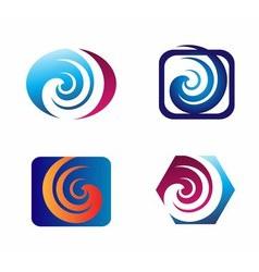 Spiral design elements logo vector