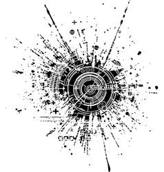 Tech blot vector
