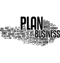 ten tips to jump start your business plan text vector image