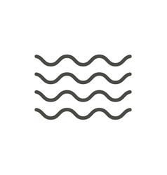 wave icon line water wave symbol vector image