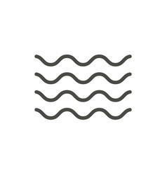 wave icon line water wave symbol vector image