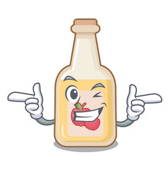 wink apple cider isolated with mascot vector image