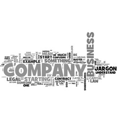 a company law jargon buster text word cloud vector image