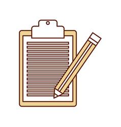 checklist order with pencil delivery service vector image