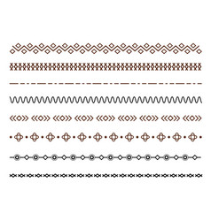 set dividers set isolated vector image
