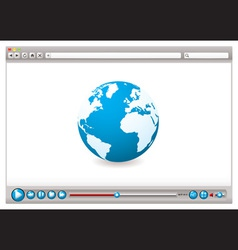 world wide web browser vector image vector image