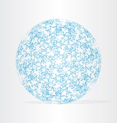 blue globe with stars vector image