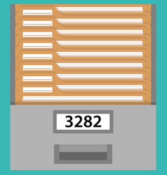 Box with documents vector