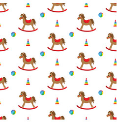 doodle rocking seamless pattern vector image