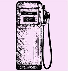 gasoline pump petrol gas station vector image vector image