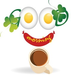 Good morning 2 resize vector image