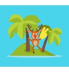 Vacation on tropic island cartoon concept vector