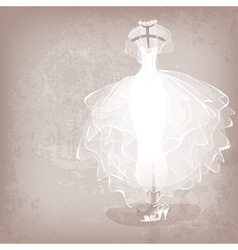 bride dress on grungy background vector image