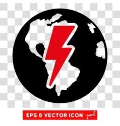 Earth shock eps icon vector