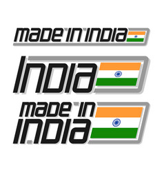 made in india vector image vector image