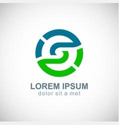 round circle environment logo vector image vector image