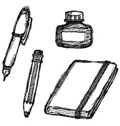 scribble series - stationery vector image vector image