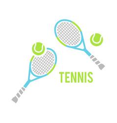 tennis balls and tennis racquet vector image