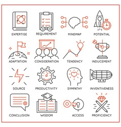 Human resource management icons - 3 vector image
