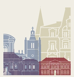 Le Havre skyline poster vector image vector image