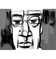 man face artistic drawing vector image