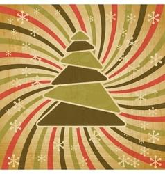 Retro Christmas Tree Background vector image vector image