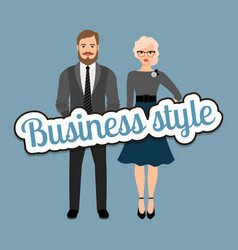 retro style business fashion couple vector image