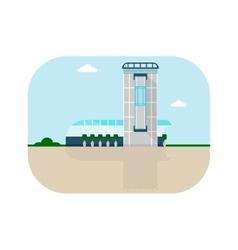 shopping center crystal facade vector image