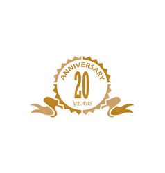 20 years ribbon anniversary vector image